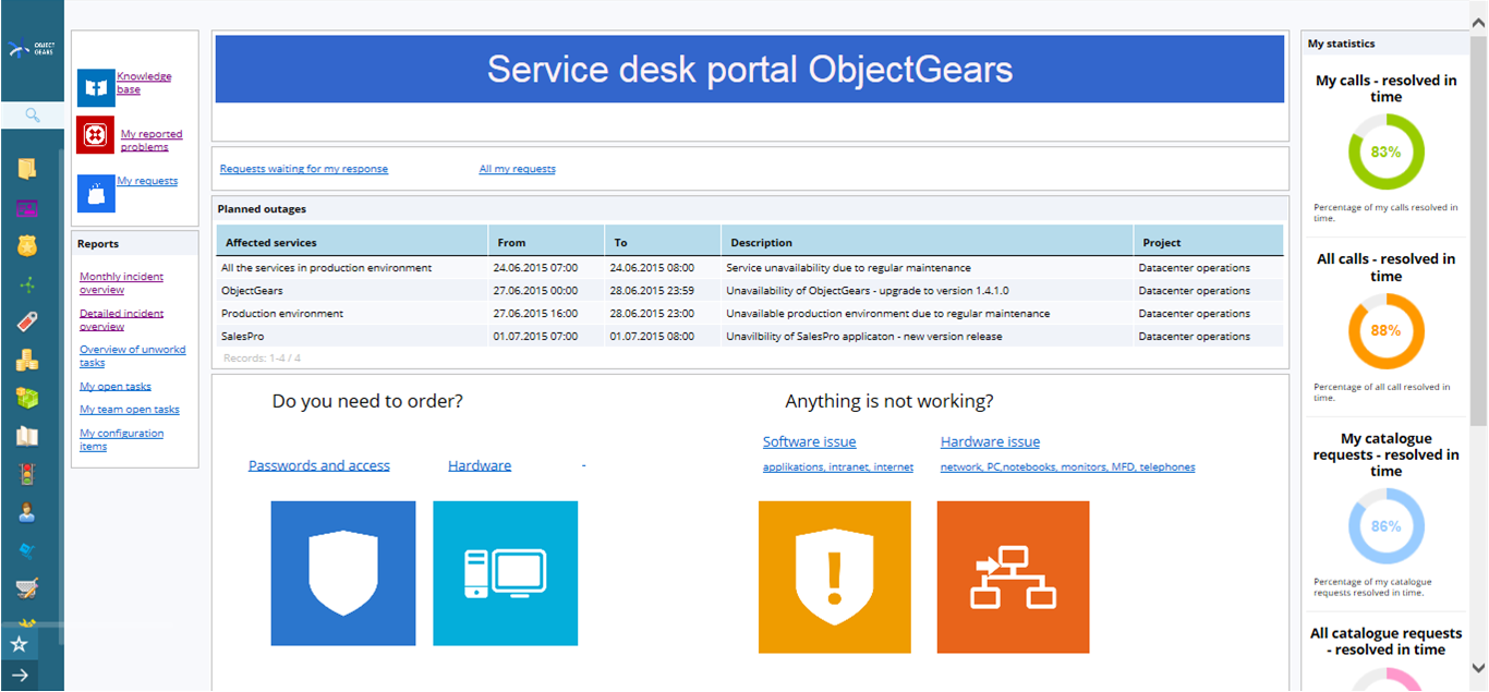Service Desk Portal