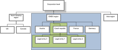 Example of organizational structure